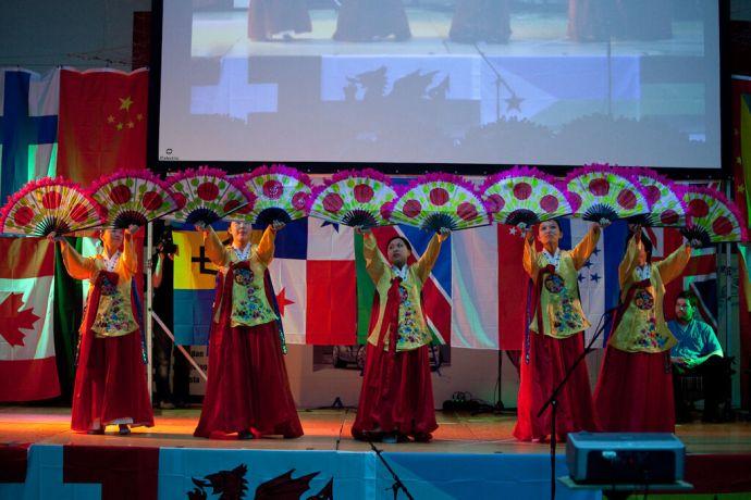 Faroe Is.: Klaksvik, Faroe Islands  ::  The Korean Fan Dance. More Info
