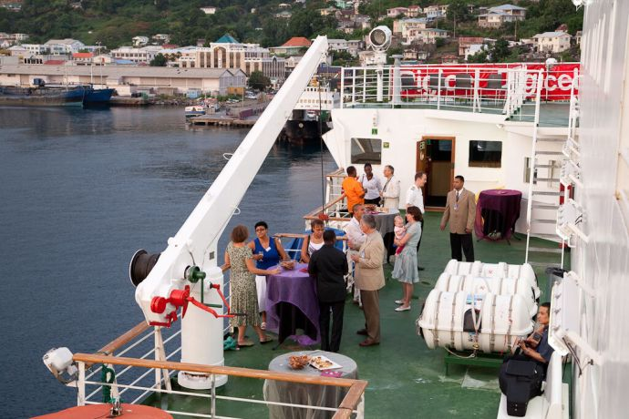 Saint Vincent & the Grenadines: Kingstown, St. Vincent  ::  A Special Reception on the Boat Deck. More Info