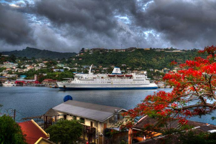 Grenada: St Georges, Grenada :: The berth at Carenage in the inner harbor. More Info