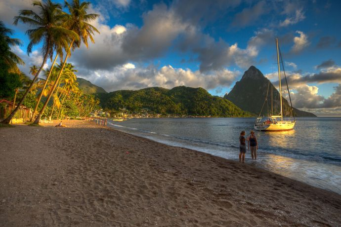 Saint Lucia: Vieux Fort, Saint Lucia  ::  Among the outing options during the Week of Rest were visits to two beaches including this one. More Info
