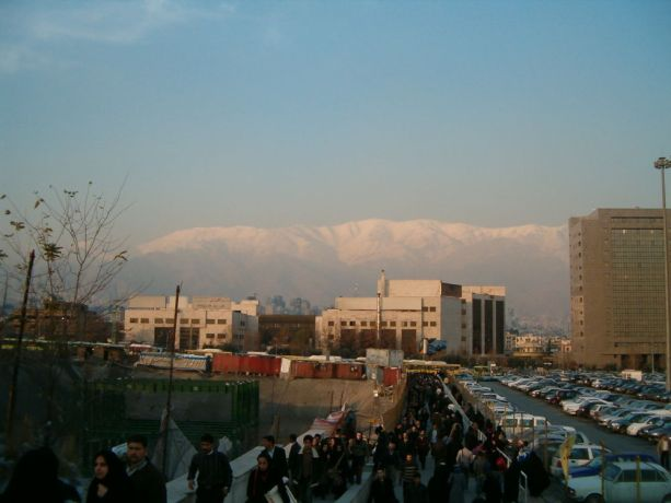 Iran: Tehran and snowcapped mountains More Info