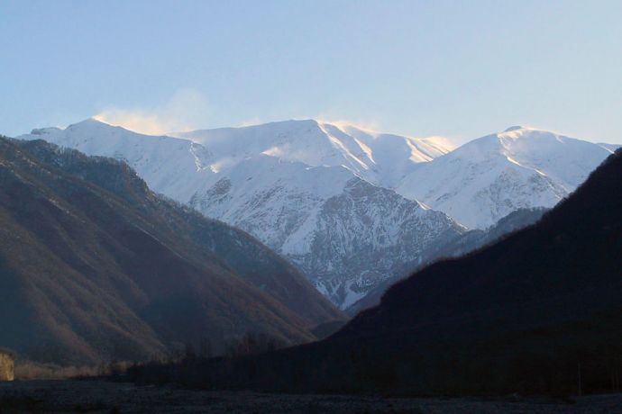 Caucasus: Mountainside scenery in Azerbaijan  More Info