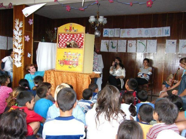 Bulgaria: The OM team uses different means to engage with the youth and kids on camp More Info