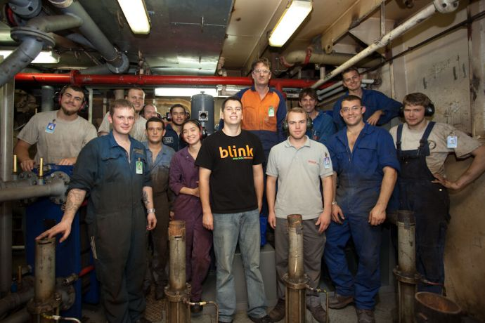 Malta: Valletta, Malta :: The Engine Room team poses for the camera in front of the HFO machines. More Info
