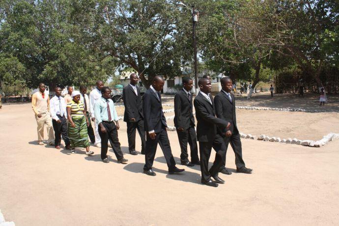 Mozambique: Procession of missionary graduates More Info
