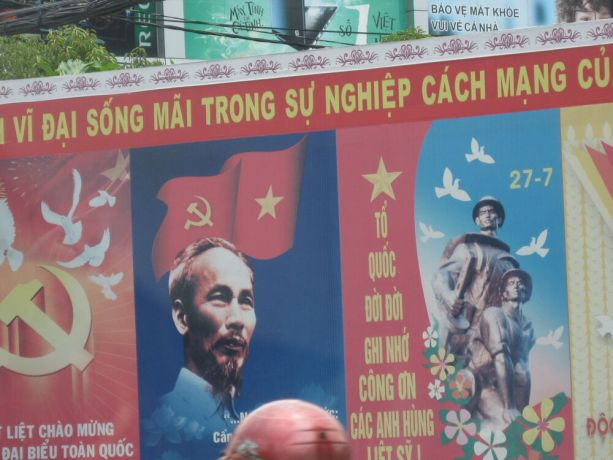 Vietnam: Large Communist Poster, Saigon More Info