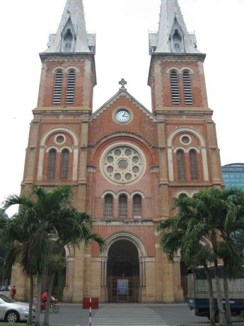 Vietnam: Notre Dame Cathedral,best known Catholic church in Ho Chi Minh City, Vietnam More Info