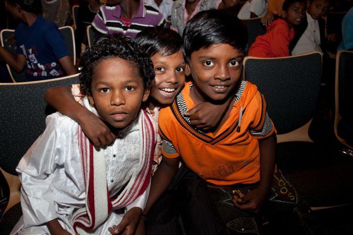 India: Kochi, India :: Local children enjoy their visit to Logos Hope. More Info