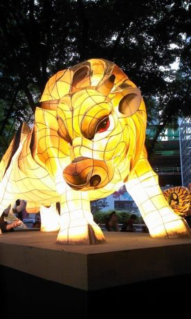 South Korea: On the 8th day of the 4th month of the Chinese Calendar, Buddha Sakyamuni was born in India. A bull lantern was created to celebrate Buddhas birthday this year. More Info
