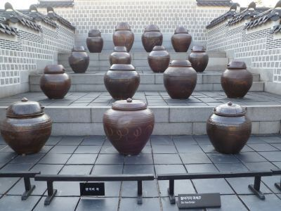 South Korea: Onggi earthenware pots are Koreas traditional food storage technique. They are used for making Koreas distinctive fermented foods such as kimchi, red pepper paste and soy bean paste. More Info