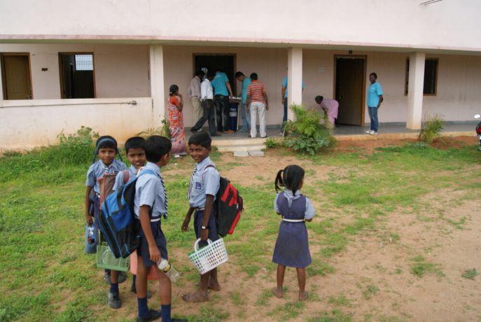 India: Visakhapatnam, India :: Schoolchildren at a Good Shepherd school. More Info