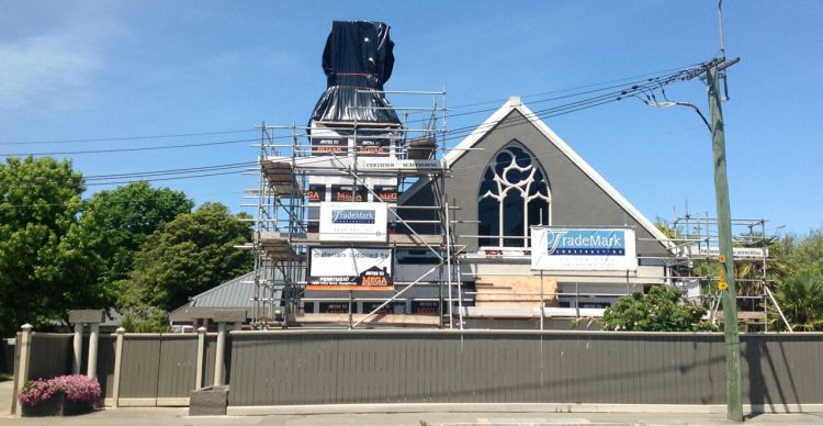 New Zealand: Scaffolding: the latest fashion accessory for the churches of Christchurch. More Info