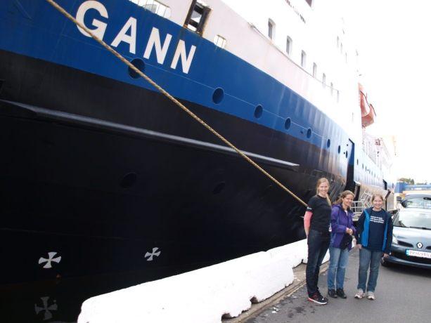 Norway: OM Norway FL Kari Anne Meberg, Staff member Tonje Eklund  Siv Rosland (ex-Logos Hope)after an OM presentation outside the Christian School ship GANN. More Info