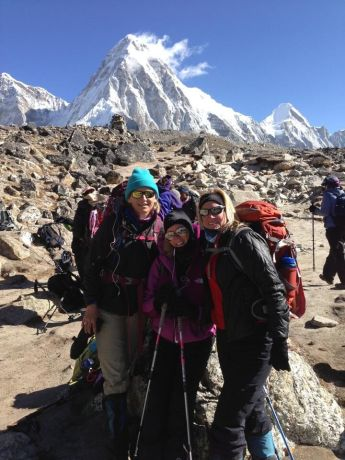 United States: Freedom Climbers at the top of Kala Patthar. More Info