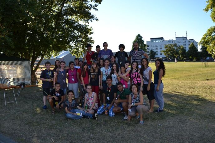 Bosnia & Hercegovina: Bosnian group gathered at a break during TeenStreet Europe 2013 in Offenburg, Germany. More Info