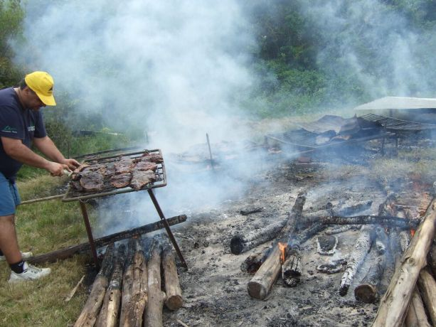 Uruguay: Asado, or grilled steak, is a staple of the Uruguayan diet and was served to hundreds at the Alfa camp in southeastern Uruguay. More Info