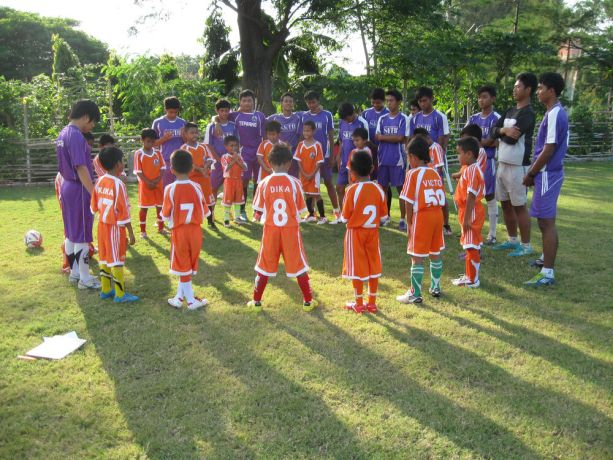 Indonesia: Young football coaches are given the opportunity to teach children during a football clinic in Indonesia. For many, football is their passion. More Info