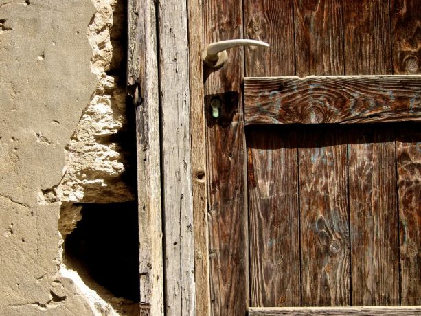 Montenegro: Old wooden door and stone.  Photo by Inga Riley More Info