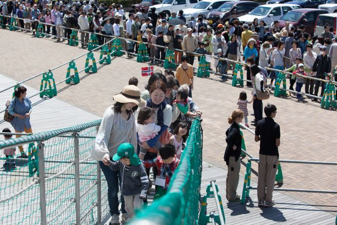 Japan: Kanazawa, Japan :: Local visitors come on board. More Info