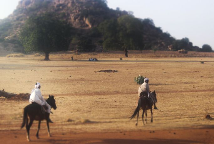 Africa: Riding horses in Chad. More Info