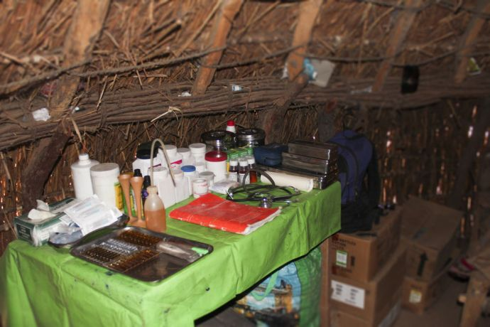 Africa: Medical supplies in remote clinic in village far outside of Abeche. More Info