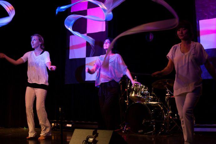 South Korea: Incheon, South Korea :: Maria Schedrina (Russia), Regina Palazuelos (Mexico) and Saltanat Abdrakhmanova (Kazakhstan) perform a dance at the Digital Generation event. More Info