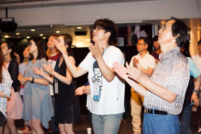 South Korea: Incheon, South Korea :: Local visitors enjoy worship on board Logos Hope. More Info