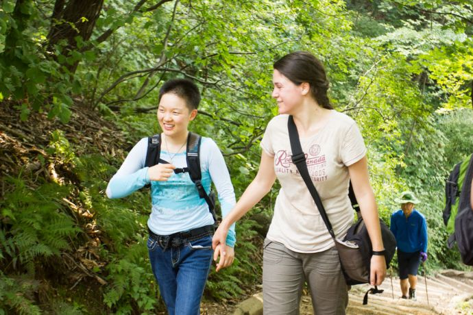 South Korea: Incheon, South Korea :: Stephanie Desloges (Canada) hikes with local lady Yeonsu. More Info