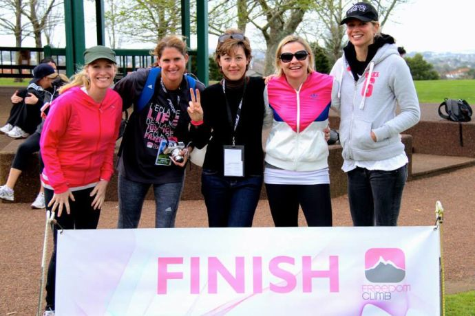 """New Zealand: Terrena Griffiths (New Zealand), who believes that Freedom Climb """"is a great cause and a great way to encourage the family to get moving"""", was thrilled to be the first runner to complete the 16km climb. More Info"""