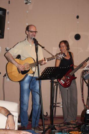 Montenegro: The christian singer-songwriter Dejan Milinov from Serbia performing in Bar, Montenegro. More Info
