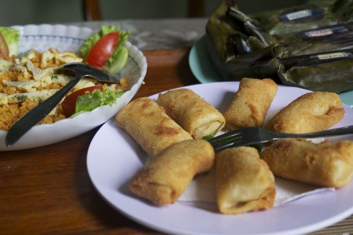 Indonesia: Delicious Indonesian food served for breakfast. More Info