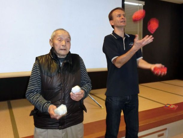 Japan: An OMer was asked to perform a juggling show at an aged care facility in Japan. More Info