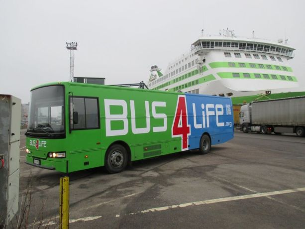 Finland: The new Bus4Life vehicle received a fresh coat of paint in Estonia, and arrived back in Finland at the end of February 2015. It is now back in the shop for final interior work before heading toward Eastern Europe. We are hoping to operate two vehicles in six different countries this year. More Info