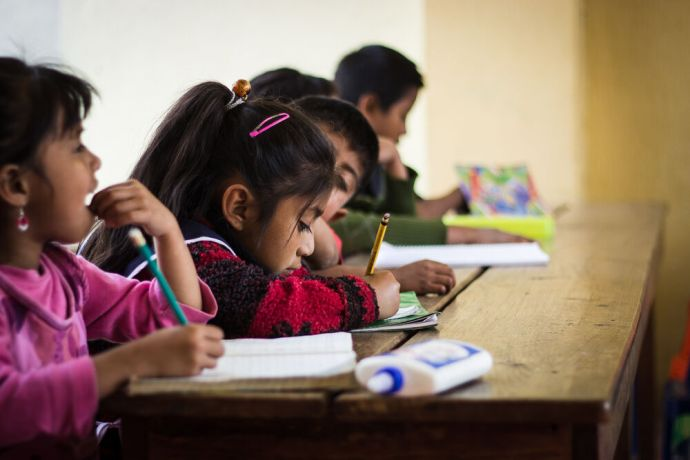 Guatemala: Children participating in Project Rescue are doing their homework. More Info