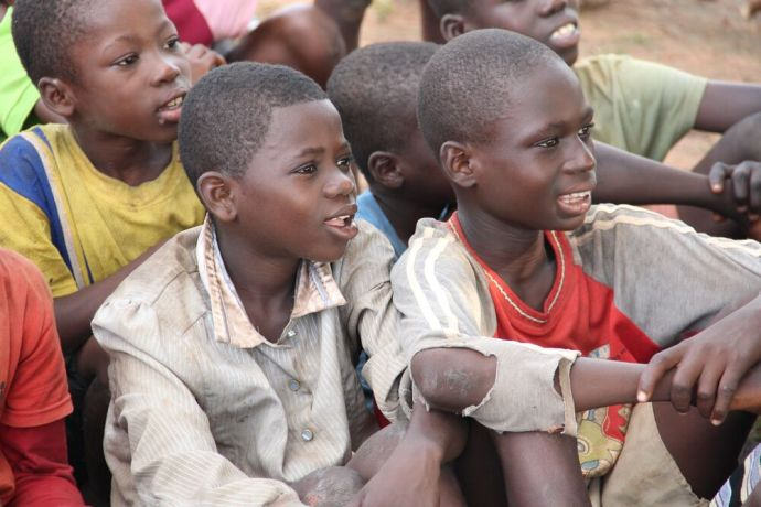 Czech Republic: Ghanaian Boys enjoying OM team programme More Info
