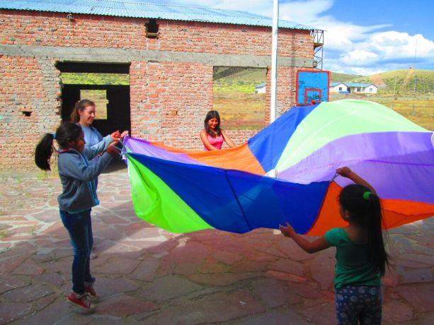 Argentina: Team members play games with children in a small town in Argentina called Onelli. More Info