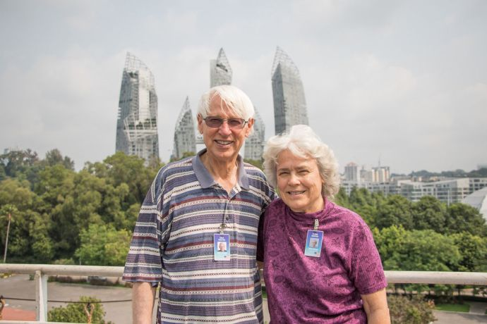 Singapore: Dale and Elaine Rhoton at the Keppel Club, Singapore More Info