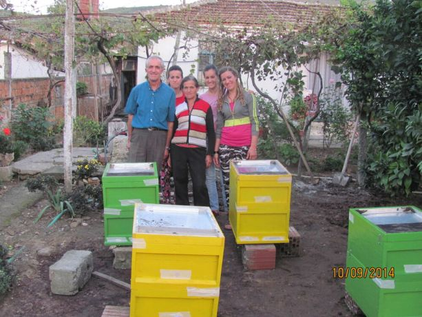 Albania: Praying Gods blessing over new bee hives. This is a new project of Business As Mission Albania. More Info