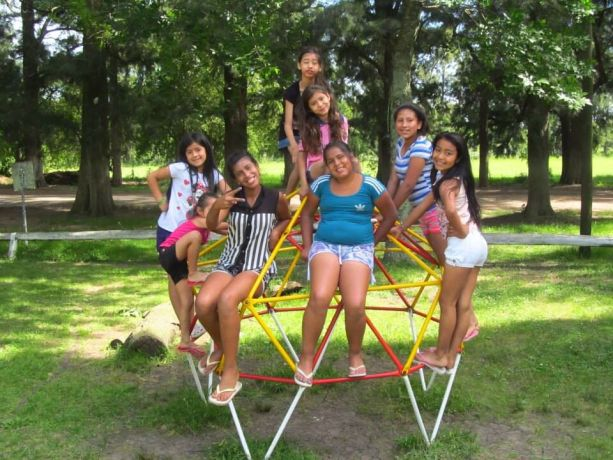 Argentina: Some girls enjoy a break from city life at a weekend camp. More Info