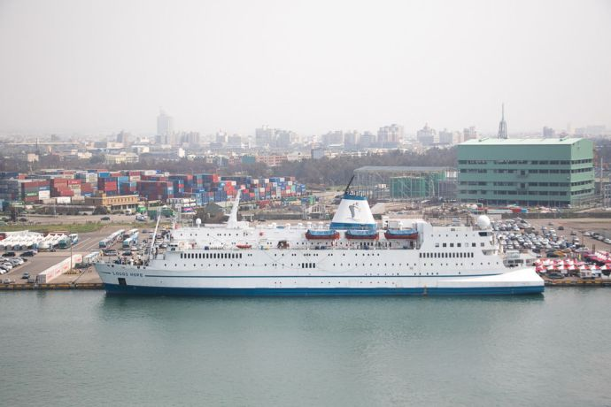 Taiwan: Taichung, Taiwan :: Ship in port. More Info