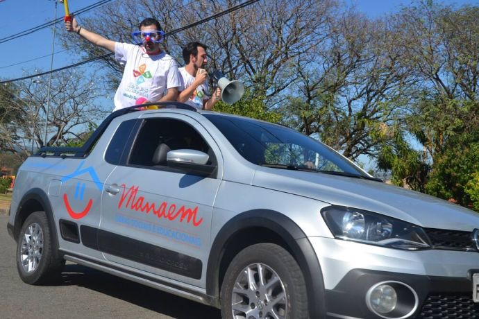 Brazil: Truck  Megaphone = Come to Arts on the Road More Info