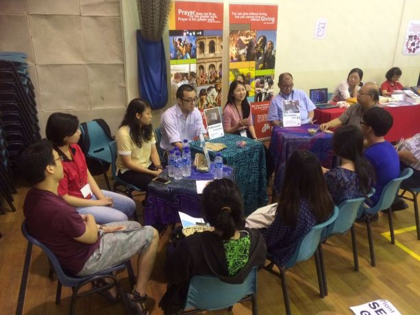 Singapore: OM International Director, Lawrence Tong, and the OM Singapore team challenging young people to missions at the English Presbytery Missions Fest More Info