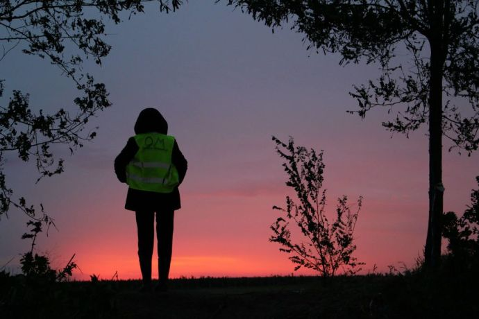Montenegro: As the sun rises at a Serbian border crossing,an OM worker takes a few minutes out from distributing aid to refugees overnight. More Info