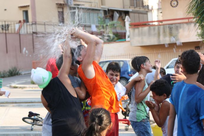 Italy: Water balloons, fun and laughter as the Transform team plays with the children in Sicily, Italy. More Info