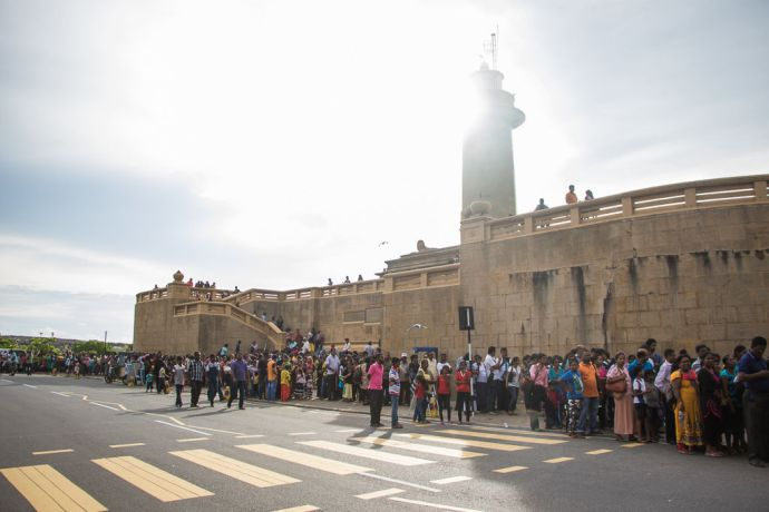 Sri Lanka: Colombo, Sri Lanka :: People wait in line to visit Logos Hope. More Info
