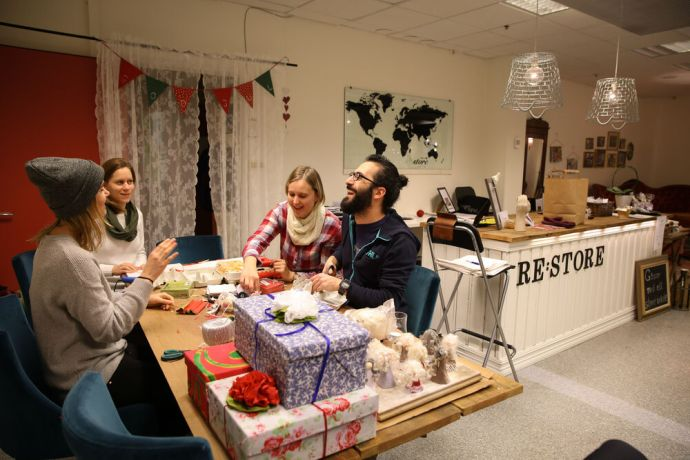 Sweden: Re:store is an OM store that sells items from around the world that are made ethically and fair trade. It is also a place for people to come together over fika or crafting. More Info