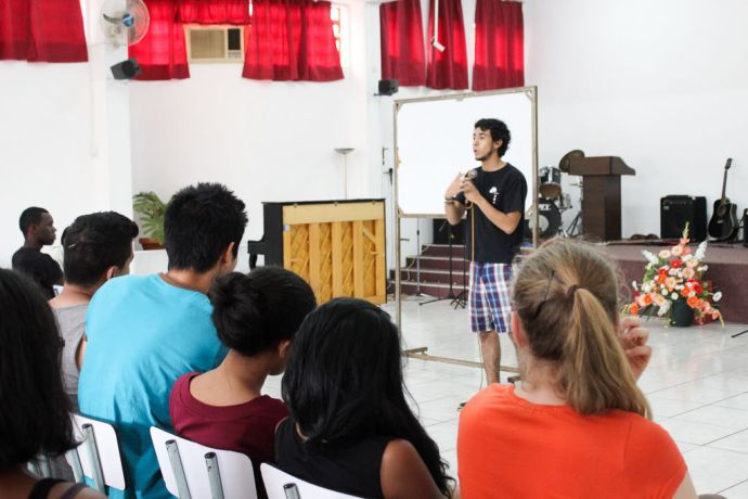 Mauritius: Port Louis, Mauritius :: Santiago Jimenez (Colombia) trains local youth ways to share the love of God. More Info