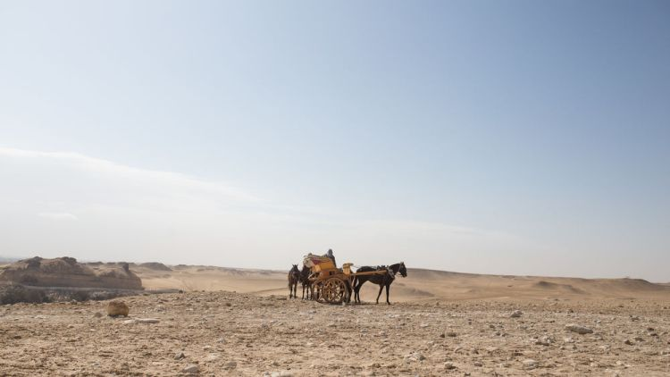 Egypt: Desert sands fill this landscape of Egypt.  