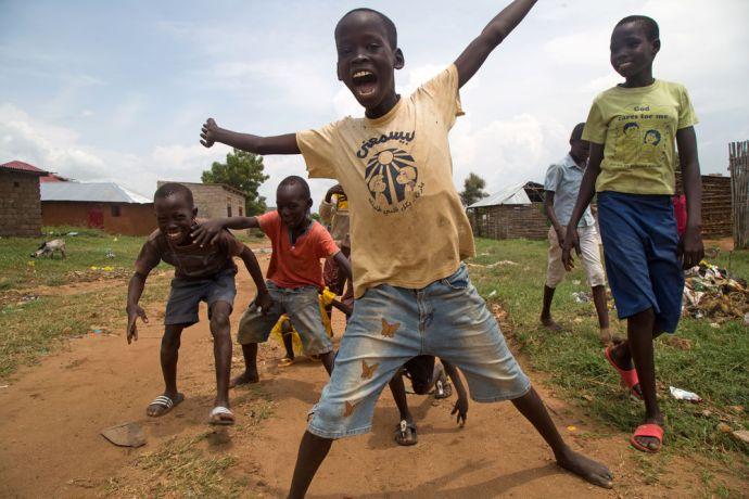 South Sudan: Happy children in a village in South Sudan.   Photo by Josiah Potter More Info