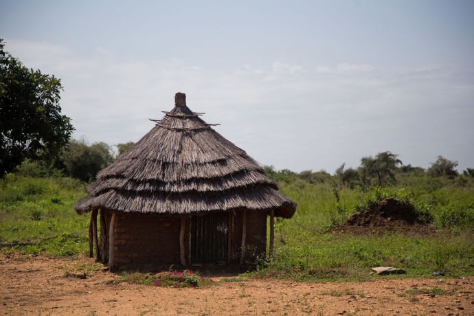 South Sudan: Traditional home in a village in South Sudan.   Photo by Josiah Potter More Info